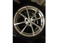 4 tsw alloys with tyres