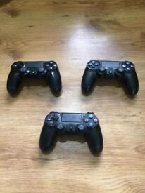 Sony Official PS4 Dualshock 4 Wireless Controller Jet Black Pad