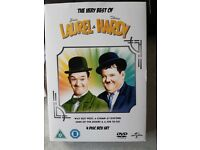 THE VERY BEST OF LAUREL & HARDY 4 DISC BOX SET.