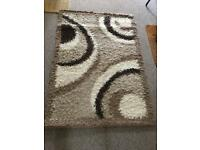 Large shaggy rug