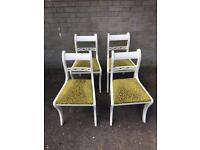 SOLID VINTAGE CHAIRS FREE DELIVERY 🇬🇧no TABLE SHABBY CHIC
