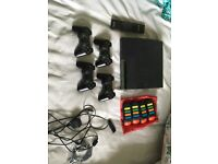 Playstation 3, extra controllers, 55 games