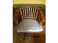 Beautiful old traditional desk with a swivel chair