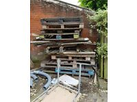 Wooden pallets/firewood going free must collect