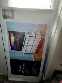 Brand new tv stand glass