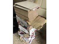 100 BEIGE Ceramic Tiles. 20cm x 20cm. Mint Condition.