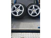 Porsche 997 c2 classic alloy wheels with Bridgestone tyres