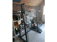 Gym with bench and weights Smith's machine