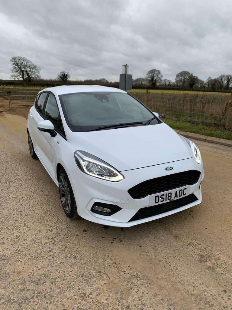 2018 Ford Fiesta Mk8 St Line X 1 0 Ecoboost 100ps 5dr Frozen White Hatchback In Norwich Norfolk Gumtree