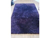 Purple Rug. 2.4 m by 1.6 m. Perfect for living area or bedroom. In great condition.