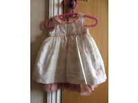 M&S baby dress 0-3months