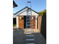 11 ft Aluminium Step Ladders - 11 Treads + Platform