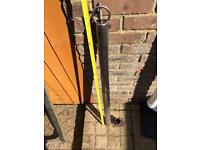 Stainless boat ski pole and base