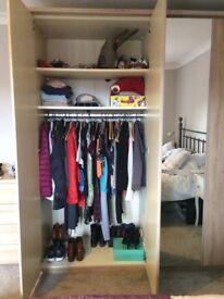 Like new oak effect wardrobe and set of 4 drawers.