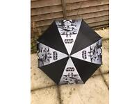 BRAND NEW WITH TAGS CHILDRENS STAR WARS UMBRELLA