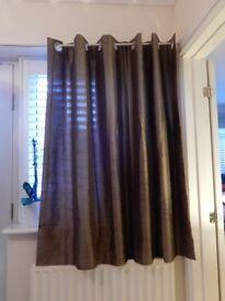 Silk-Brown Eyelet curtain