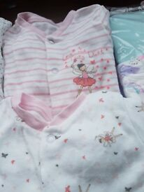 Bundle of girls Babygros aged 12-18 months. Some brand new.