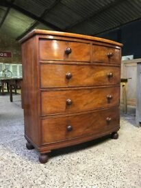 Victorian Antique Georgian Mahogany Chest Of Drawers