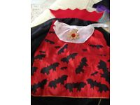 3-4 halloween dracula cape and shirt inlay /trousers