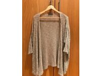 Knitwear - Silver Cardigan - Size 12UK