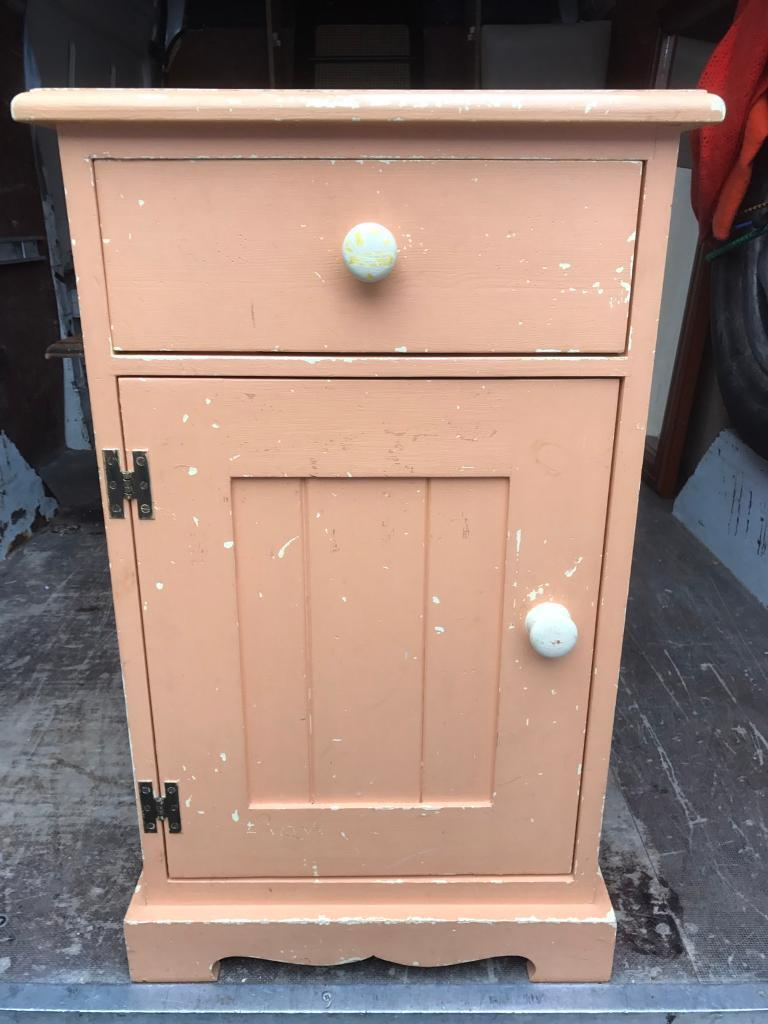 Distressed pine bedside cabinet FREE DELIVERY PLYMOUTH AREA