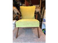 1950's chair in Scion Tomoko Fabric. Reupholstered from frame