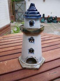 Ceramic lighthouse table decoration