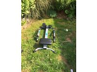 exercise bike cross trainer and rowing machine never used