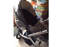 Mothercare My3 pram & pushchair travel system with accessories.