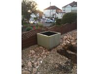 Large, good quality, lined planter trough square