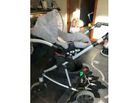 Toca 0months up pram with baby mattress and carseat