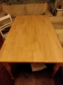 Solid natural wood - Pine dining table