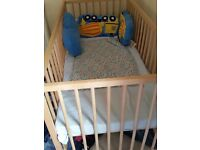 Baby Cot and Mattress Very Nice Condition