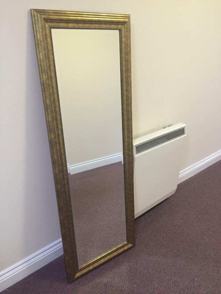 ikea levanger mirror with vintage gold frame in exeter
