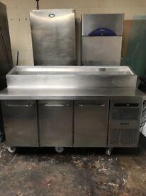 Gram pizza topping fridge, 3 doors preparation fridge