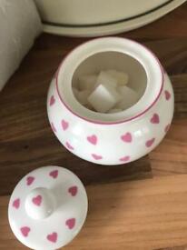 Cute heart sugar bowl
