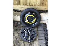 Spare wheel (space saver) + wheel changing kit