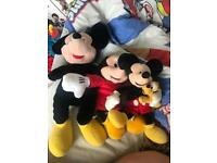 Three Micky teddies