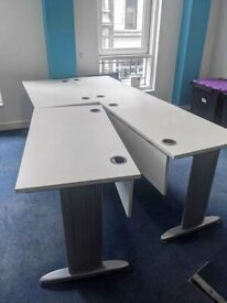 FREE SAME DAY DELIVERY - Straight Office Desk 1200mm x 600mm, Cantilever Leg Frame