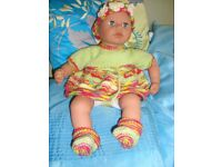 NEW HAND KNIT CLOTHES TO FIT BABY ANNABELL BABY BORN NICE GIFT