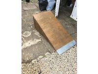 Large wooden bike/skateboard ramp