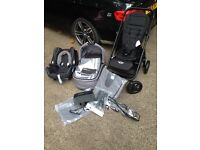 Never used! Mini pram/stroller, carry cot & car chair