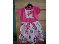 Next girls floral dress and cardigan age 3