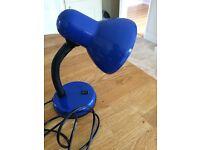 Blue Desk Lamp Light (Used Very Good Condition Bedroom Study Kids Children's Bedside) VGC