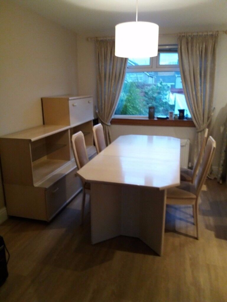 Solid Ash Dining Table 4 Chairs and matching furniture