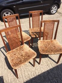 Original G Plan Dining Chairs x 4
