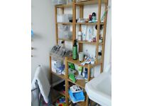Two Ikea Ragrund bathroom shelving unit, VGC