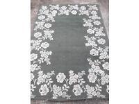 Rug - IKEA rug Alvine range green with flower design