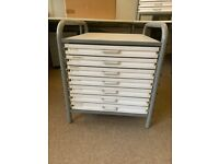 Office furniture sale - Twin Slot Shelves,Table, Chairs, Architects chest, Hanging wall rack