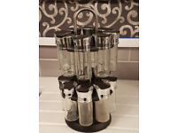 Spice rack, 16 jars ( empty) carousel
